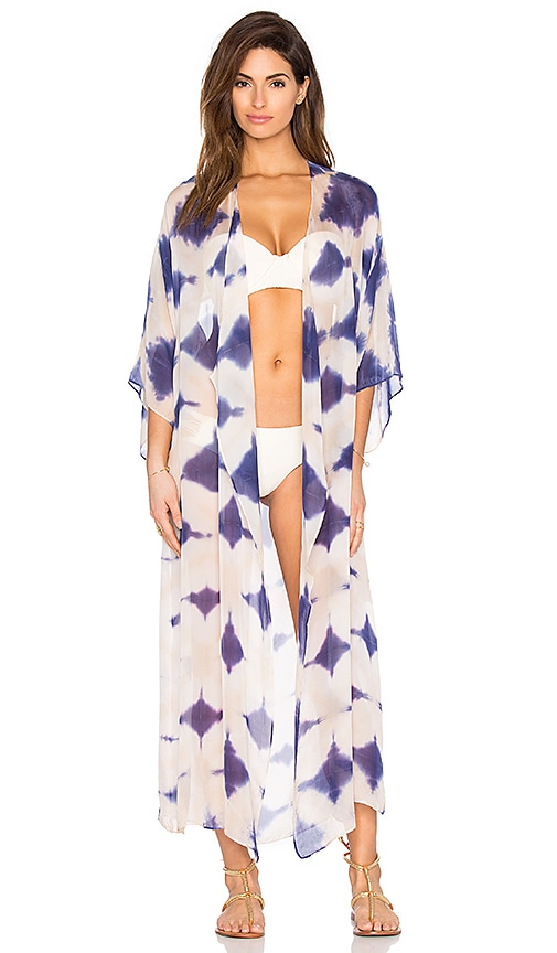ale by alessandra Split Back Kimono in Blue