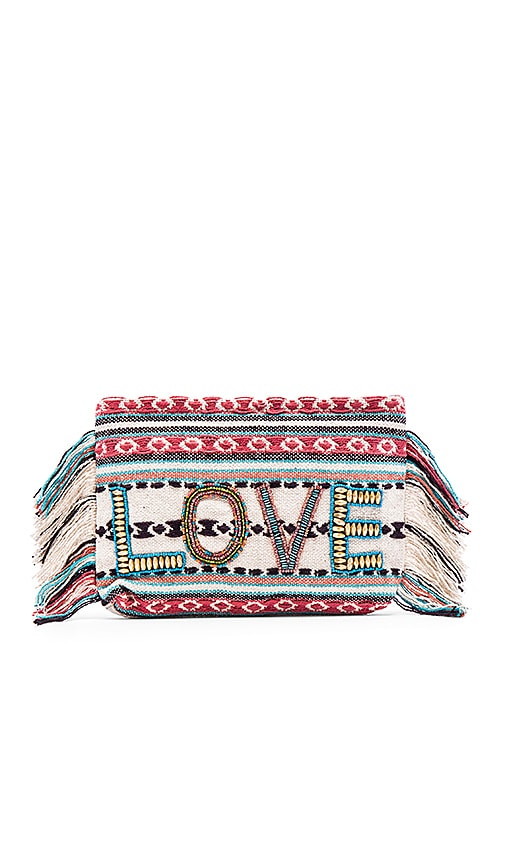 ale by alessandra All You Need Is Love Clutch in Coral
