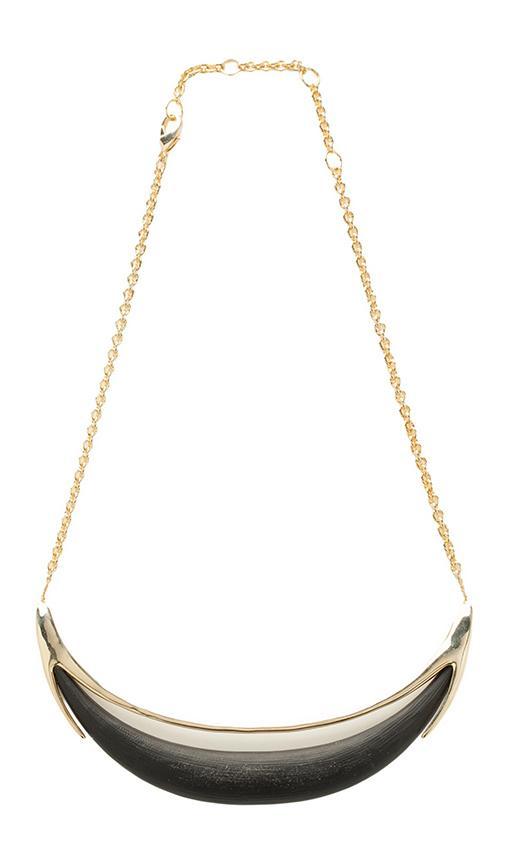 Minimalist Crescent Lucite Necklace