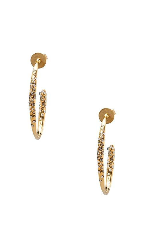 Crystal Encrusted Gold Small Hoop Earring