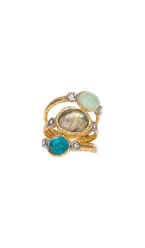 Crystal Studded Stacking Ring