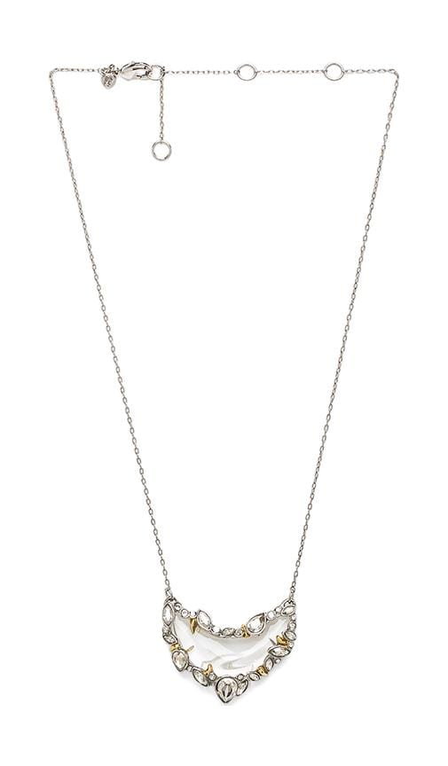 Jardin Mystere Jagged Edged Crescent Pendant Necklace
