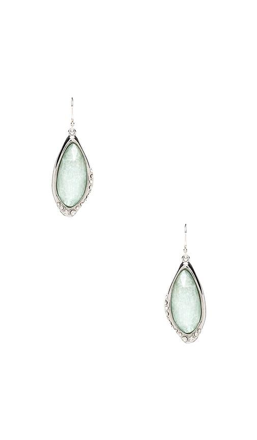 Liquid Infinity Drop Amazonite Earrings