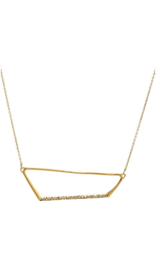 New Wave Gold Pave Trapezoid Necklace