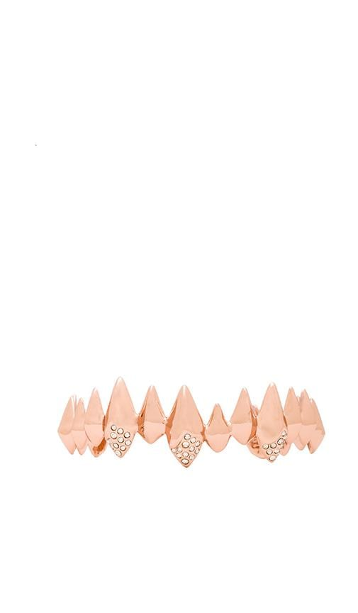 Pave Crystal Faceted Spear Cuff