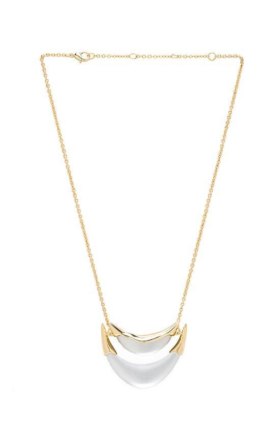 Medium 2 Tier Liquid Metal Suspended Pendant Necklace