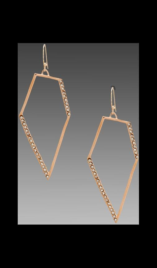 New Wave Rose Gold Pave Kite Earring