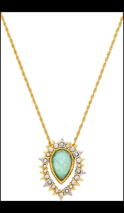Framed Amazonite Crystal Pendant Necklace