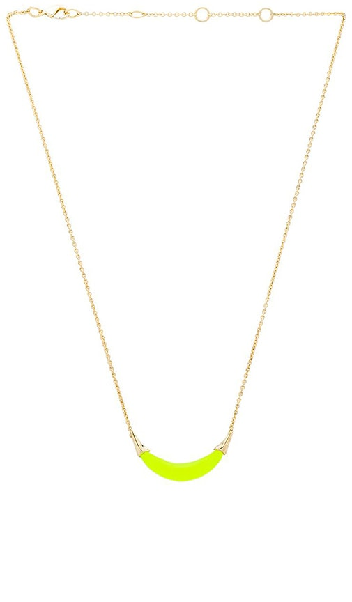 Capped Crescent Pendant Necklace