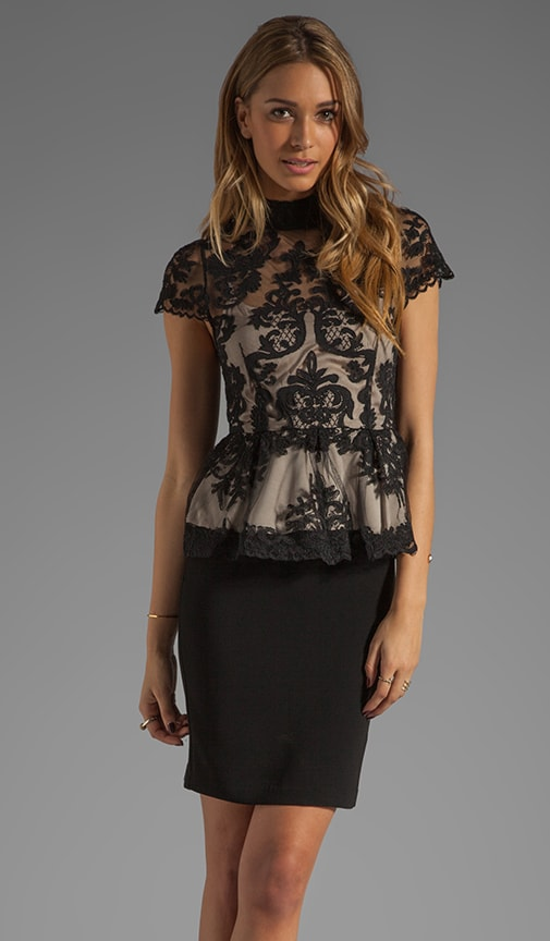 Robyn Lace Bodice Peplum Dress