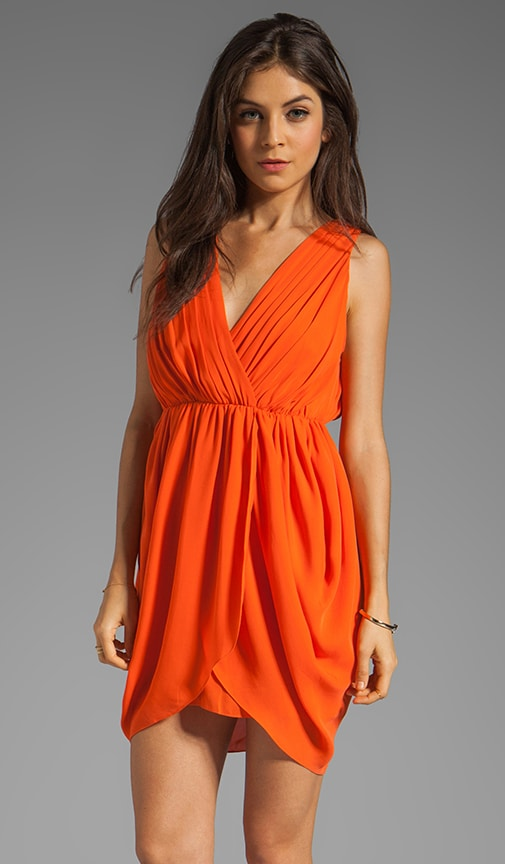 Cynthia Draped Tulip Skirt Dress