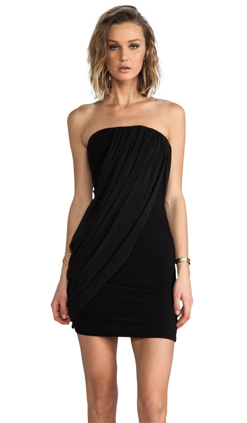Front Drape Tube Dress