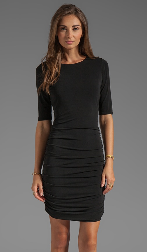Half Sleeve Ruched Dress