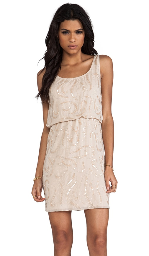 Gabby Beaded Blouson Tank Dress