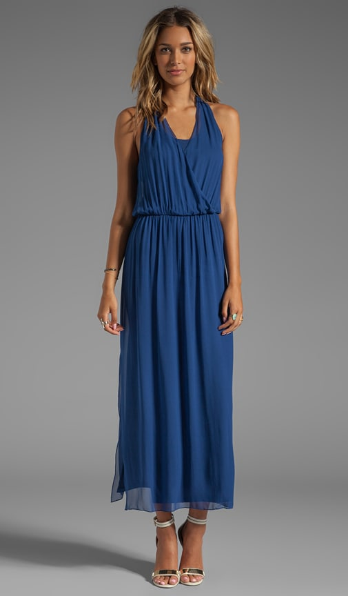 Mora Wrap-Front Halter Dress