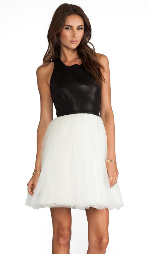 Ginnifer Leather Top T-Back Party Dress