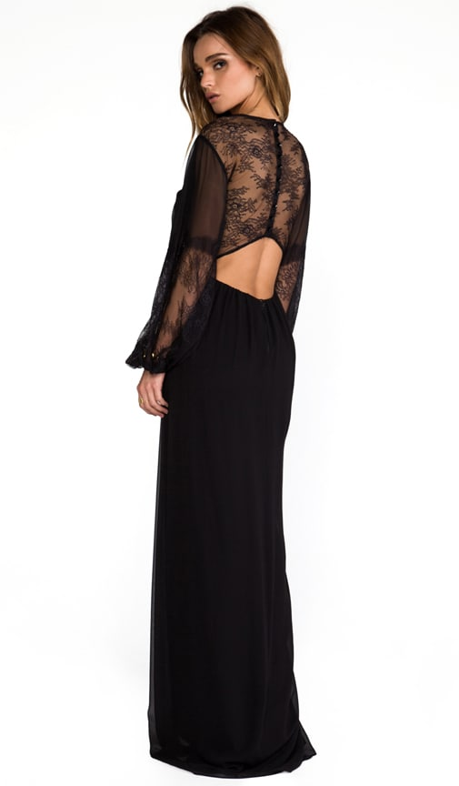 Saori Blouson Sleeve Maxi Dress