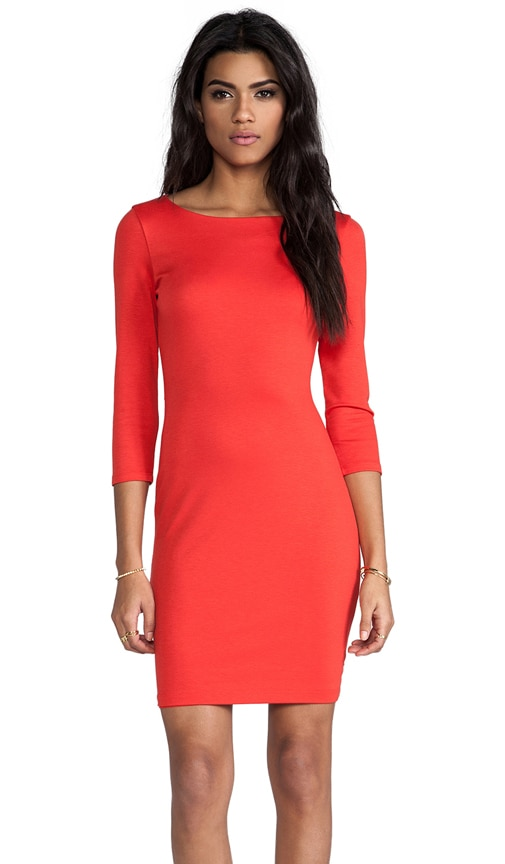 Selby 3/4 Sleeve Cutout Back Dress