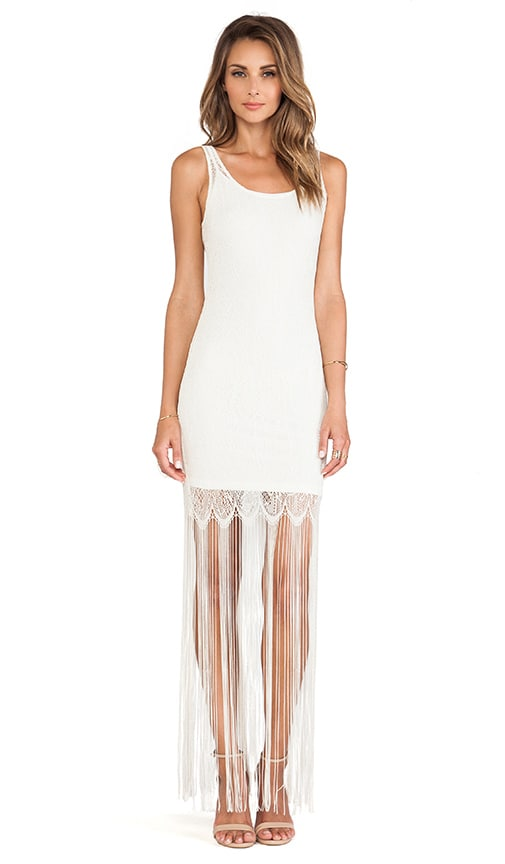 Lena Crochet Fringe Dress
