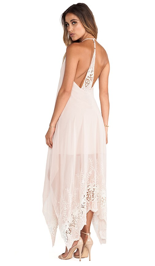 Messi Embroidered Halter Dress
