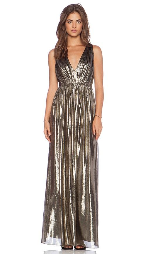 ffbd0bafda Alice + Olivia Issa Pleated Maxi Dress in Bronze