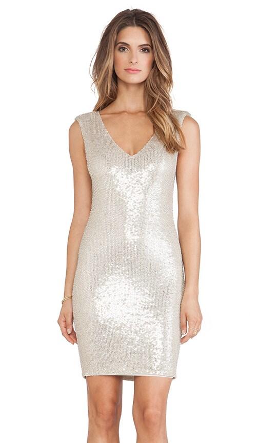 Embellished V Neck Mini Dress