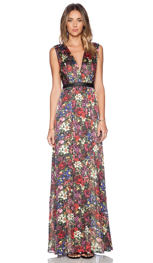 Alice Olivia Triss Maxi Dress In English Floral Revolve