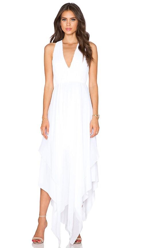 Alice + Olivia Mya Hankerchief Dress in White