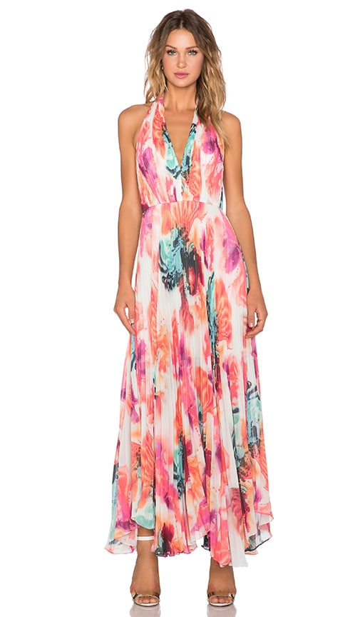 Claire Pleated Maxi Dress