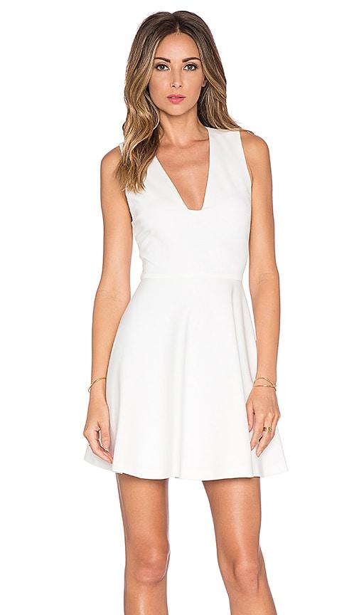 Alice + Olivia Kimbriella Flared Dress in Cream
