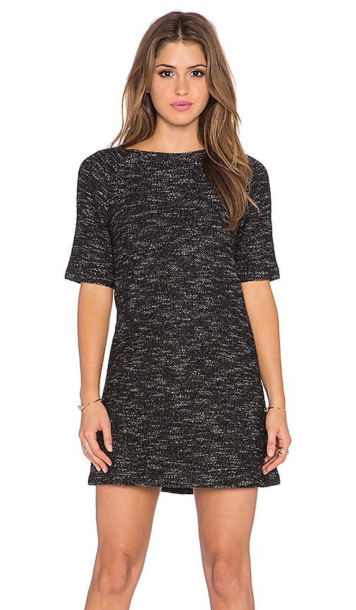 Alice + Olivia Liesl Raglan Tunic Dress in Black