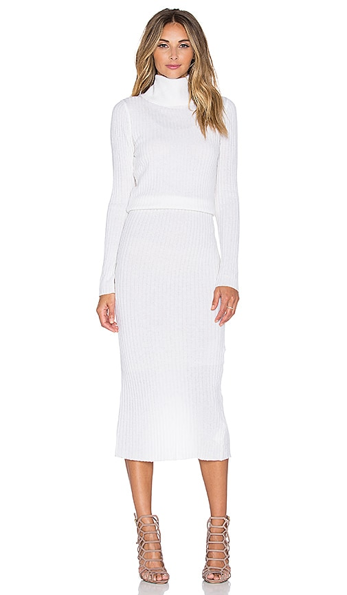 Hailee Ribbed Turtleneck Dress
