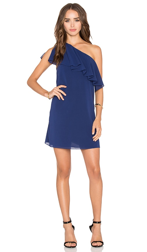 Alice + Olivia Francie Mini Dress in Indigo