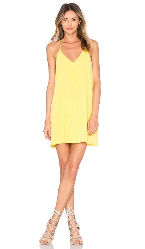 Alice + Olivia Fierra Y Back Dress in Lemon