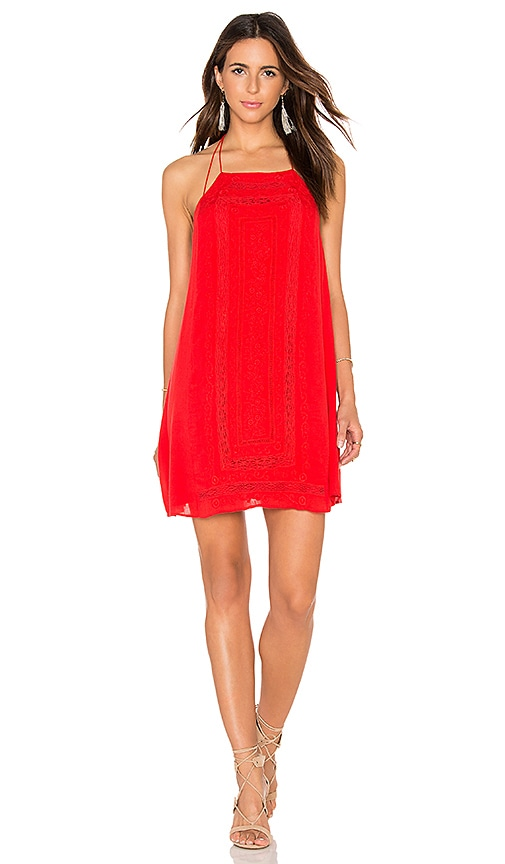 Alice + Olivia Bev Dress in Red