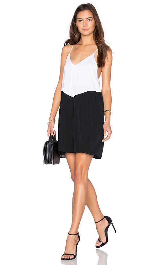Alice + Olivia Belinda Dress in Black & Off White