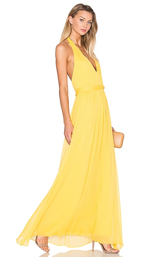 Alice + Olivia Kassidy Dress in Yellow