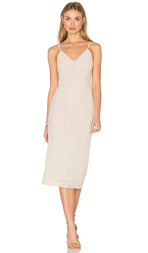 Alice + Olivia Ira Dress in Beige
