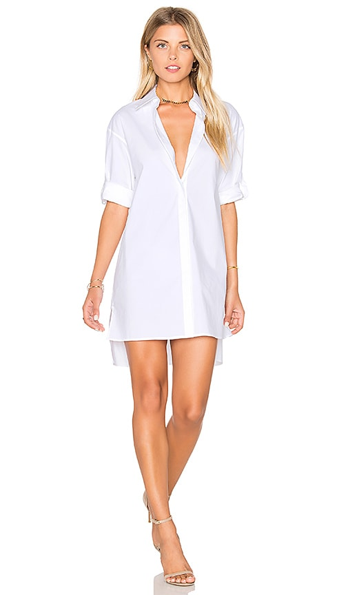 Alice + Olivia Camron Shirt Dress in White