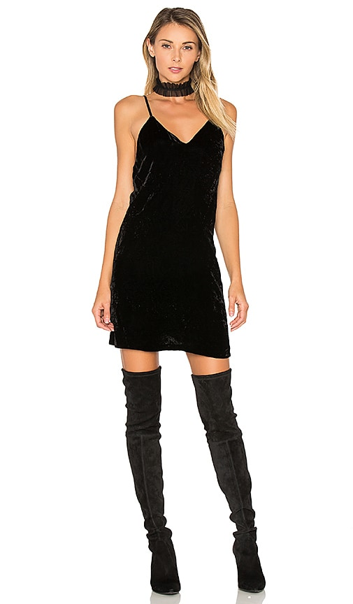 Alice + Olivia Kera Slip Dress in Black