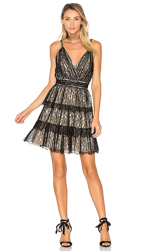 Alice + Olivia Olive Lace Dress in Black