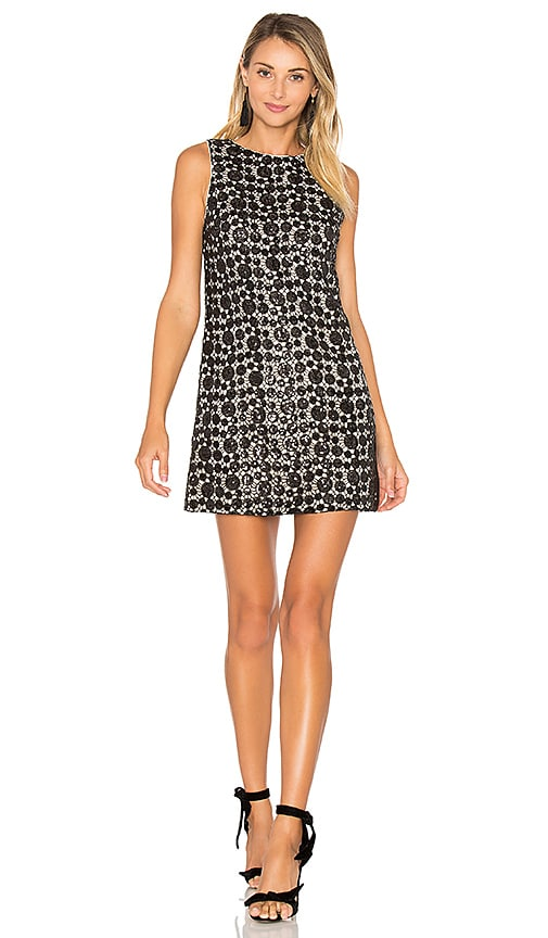Alice + Olivia Clyde Shift Dress in Black