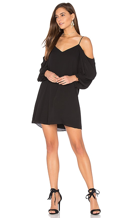 Alice + Olivia Carli Cold Shoulder Dress in Black