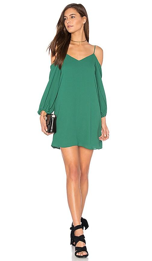 Alice + Olivia Carli Cold Shoulder Dress in Green