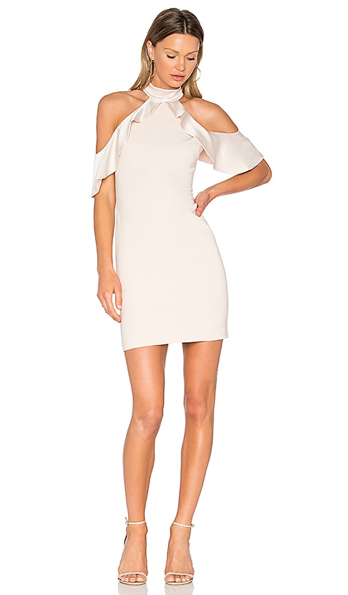 Alice + Olivia Ebony Dress in Beige