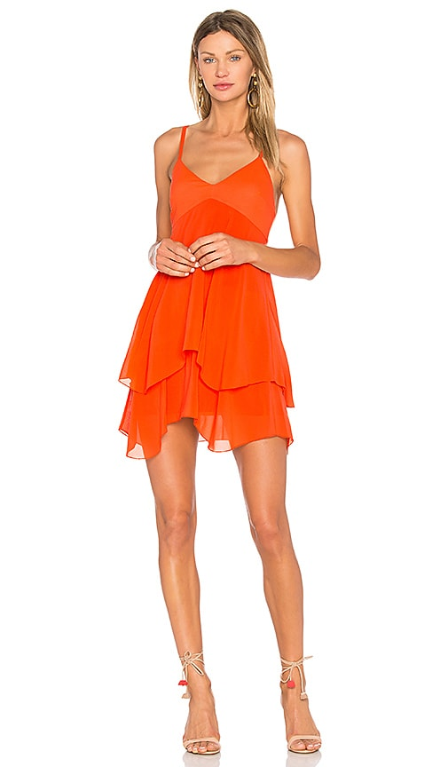 Alice + Olivia Delilah Dress in Orange