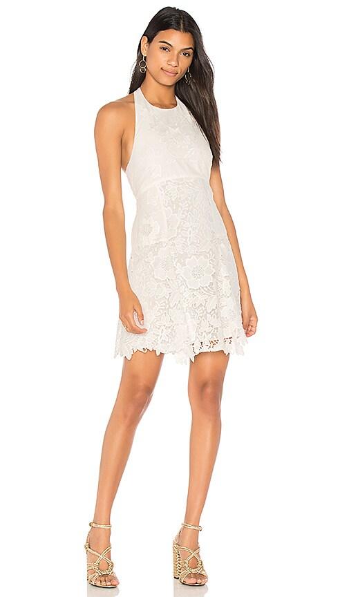 Alice + Olivia Susan Dress in White