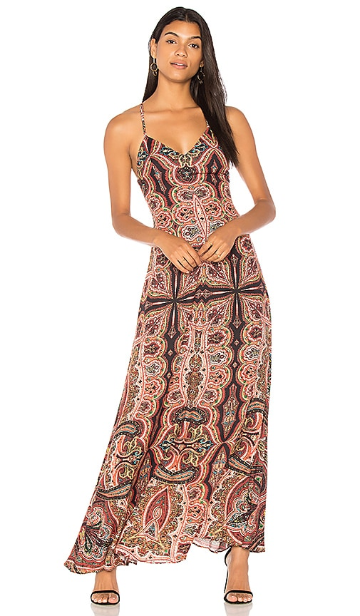 Alice + Olivia Alves Maxi Dress in Red