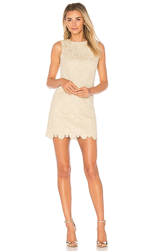 Alice + Olivia Clyde Dress in Metallic Gold