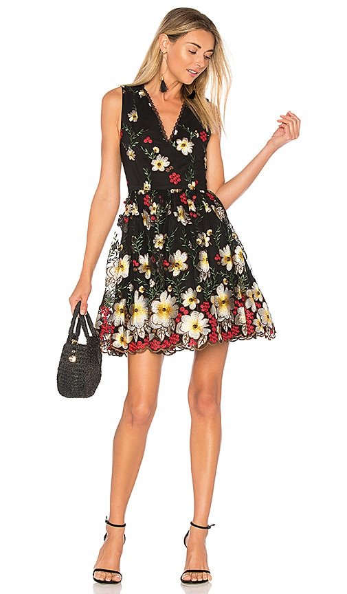 Alice + Olivia Becca Dress in Black
